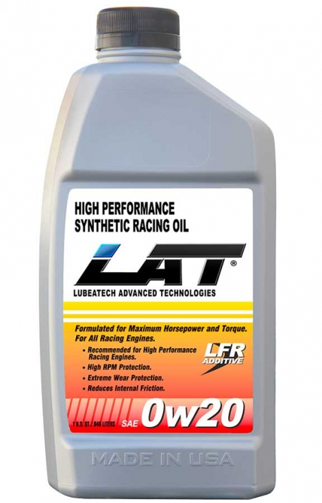 LAT 0w20 SAE Synthetic Racing Oil